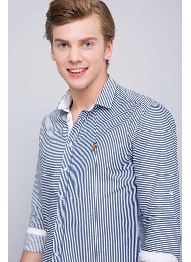Çizgili Slim Fit Uzun Kollu Gömlek-U.S.Polo Assn.